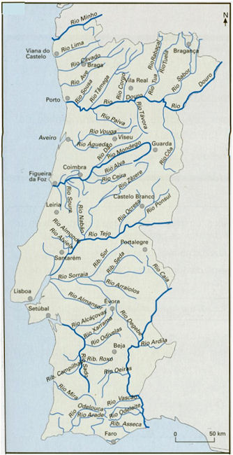 mapa hidrografico de portugal Mapas: Tipos de mapas mapa hidrografico de portugal